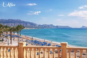 View at the Beach of L'Albir