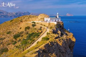 The L'Albir Lighthouse during summer