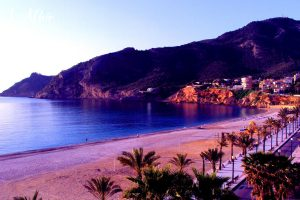 L'Albir in the evening when the sun goes down